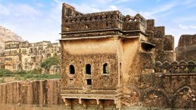 Ancient ruins. Bundi Palace, India Stock Photography