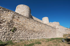 Ancient ruins of Burgos castle Royalty Free Stock Image