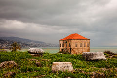 Ancient Ruins of Byblos City. On coastline, Lebanon stock images