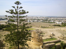 Ancient ruins in Carthage Stock Photo
