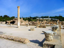 Ancient ruins in Carthage Royalty Free Stock Photography