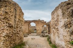 Ancient ruins of Carthage, Tunisia Stock Image