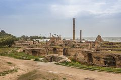 Ancient ruins of Carthage, Tunisia Royalty Free Stock Images