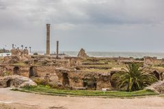 Ancient ruins of Carthage, Tunisia Royalty Free Stock Photography