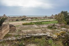 Ancient ruins of Carthage, Tunisia Royalty Free Stock Photos