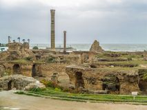Ancient ruins of Carthage, Tunisia Royalty Free Stock Image