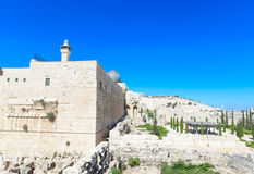Ancient ruins in the center of Jerusalem Stock Image