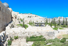 Ancient ruins in the center of Jerusalem Stock Photography