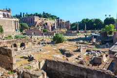 Ancient ruins in the center of Rome Royalty Free Stock Photo