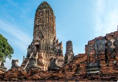 Ancient ruins in central Thailand stock images