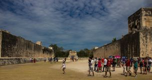 Ancient ruins of Chichen Itza stock photo