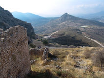 Ancient ruins of Corinth Stock Photography