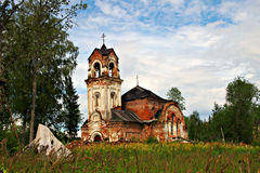 Ancient ruins. Of Cristian church Stock Images