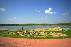 Ancient ruins at Danube riverside Royalty Free Stock Photo
