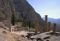 Ancient ruins in Delphi,  Greece Stock Images