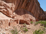 Ancient ruins in a desert canyon Stock Photography