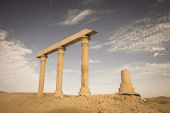 Ancient Ruins at the desert Stock Photography