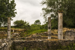 Ancient ruins in the Dion Archaeological Site at Greece Stock Images