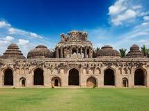 Ancient ruins of Elephant Stables. Royal Centre. Hampi, Karnataka, India. Stitched panorama Stock Photography