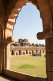Ancient ruins of Elephant Stables at Royal Centre on Hampi Stock Image