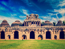 Ancient ruins of Elephant Stables Royalty Free Stock Photography