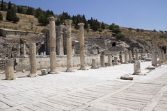 Ancient ruins in Ephesus Royalty Free Stock Photo