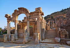 Ancient ruins in Ephesus Turkey. Archeology background Royalty Free Stock Photography