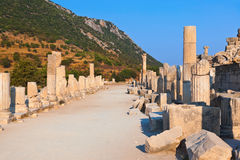 Ancient ruins in Ephesus Turkey Royalty Free Stock Image