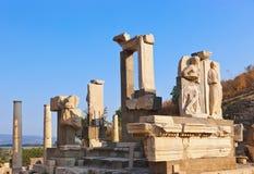 Ancient ruins in Ephesus Turkey Royalty Free Stock Photos