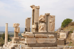 Ancient ruins, Epheusus, Turkey. Ruins of the antique city Ephesus, Turkey Royalty Free Stock Image