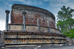 Ancient ruins exterior in Polonnaruwa Polonnaruwa Vatadage city Stock Photography