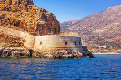 Ancient ruins of a fortified leper colony - Spinalonga Kalydon island Stock Image
