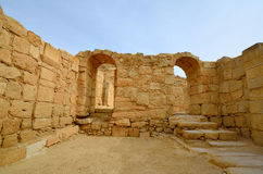 Ancient ruins. Fragment of the Avdat National Park World Heritage Sate. Israel Royalty Free Stock Images