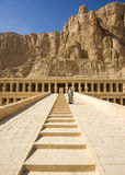 Ancient ruins of the great temple of Hatshepsut stock photos