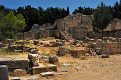 Ancient ruins in Greece Stock Photos