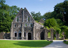 Ancient ruins of the guest house of the Abbey of Villers la Ville, Belgium Royalty Free Stock Images