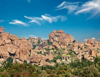 Ancient ruins of Hampi Royalty Free Stock Photos