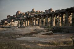 Ancient ruins of Hampi. Royalty Free Stock Images