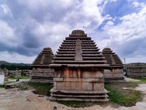 Ancient ruins of hampi. Temples of vijayanagar kingdom in hampi stock photography