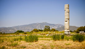 Ancient ruins, Heraion, Samos, Greece Stock Photo