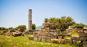 Ancient ruins, Heraion, Samos, Greece Royalty Free Stock Photo