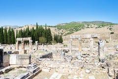 Ancient ruins in Hierapolis, Pamukkale, Stock Image
