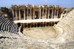 The ancient ruins of Hierapolis. stock images