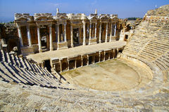 The ancient ruins of Hierapolis. Royalty Free Stock Image