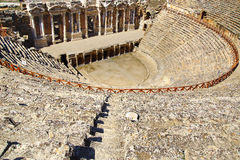 The ancient ruins of Hierapolis. royalty free stock photography