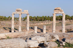 Ancient ruins Hierapolis. Turkey Royalty Free Stock Image