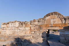 Ancient ruins Hierapolis. Turkey Stock Image