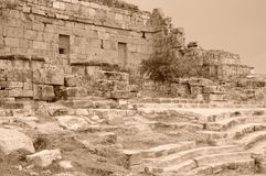 The ancient ruins of Hierapolis Royalty Free Stock Image