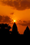 The ancient ruins of a historic Khmer temple in the temple compl Stock Photo