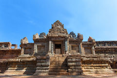 The ancient ruins of a historic Khmer temple in the temple compl Stock Images